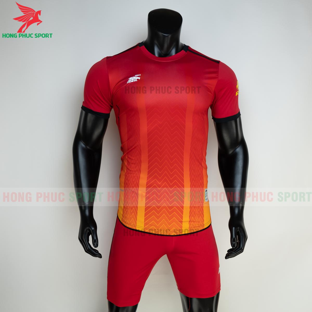 Áo đá banh không logo RIKI FURIOR 2021 màu đỏ (trước)
