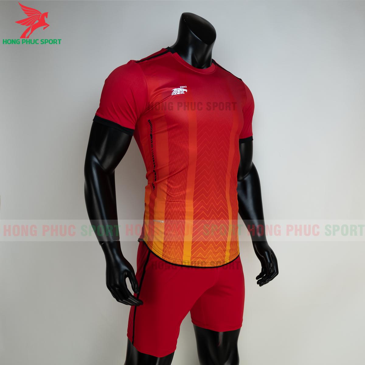Áo đá banh không logo RIKI FURIOR 2021 màu đỏ (phải)