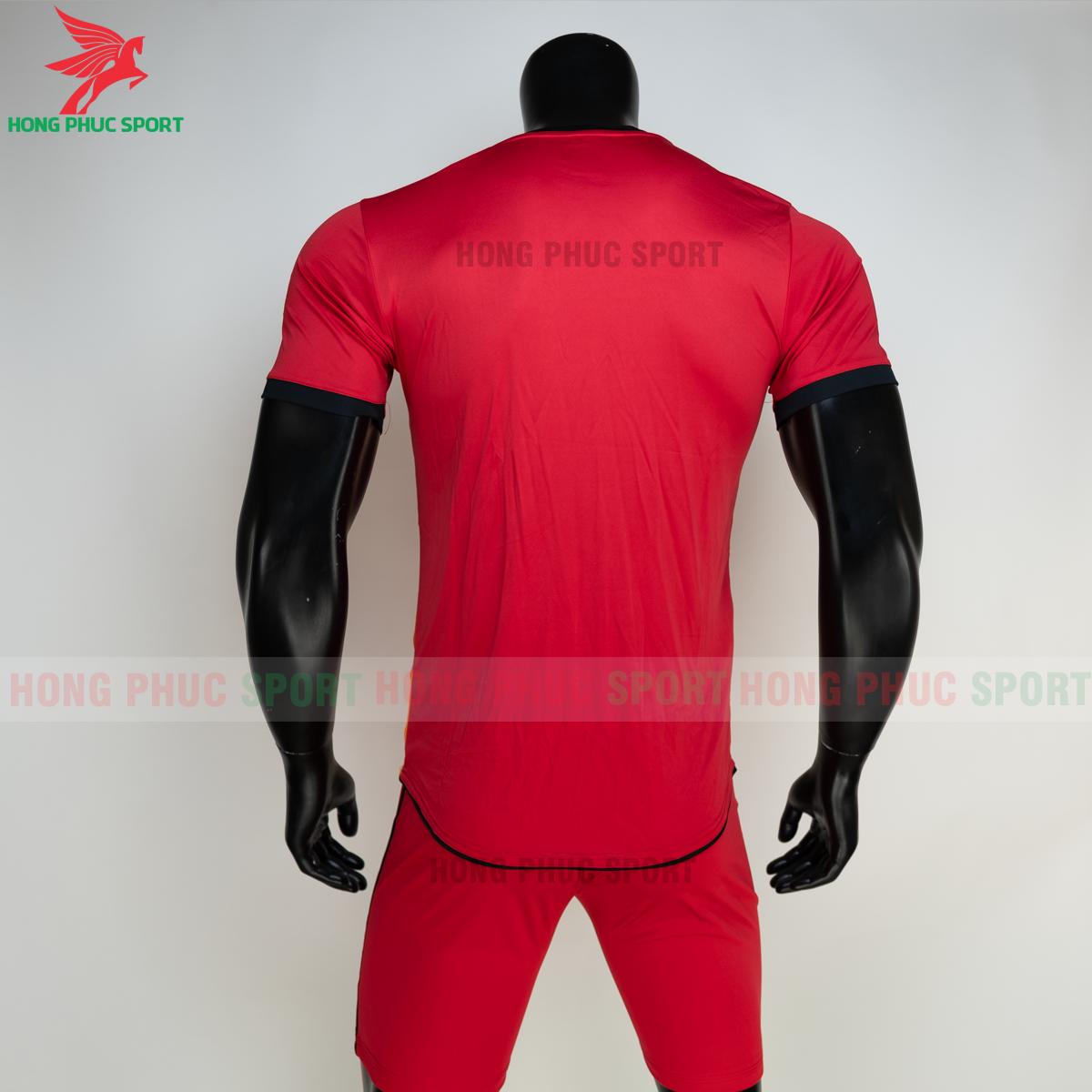 Áo đá banh không logo RIKI FURIOR 2021 màu đỏ (sau)