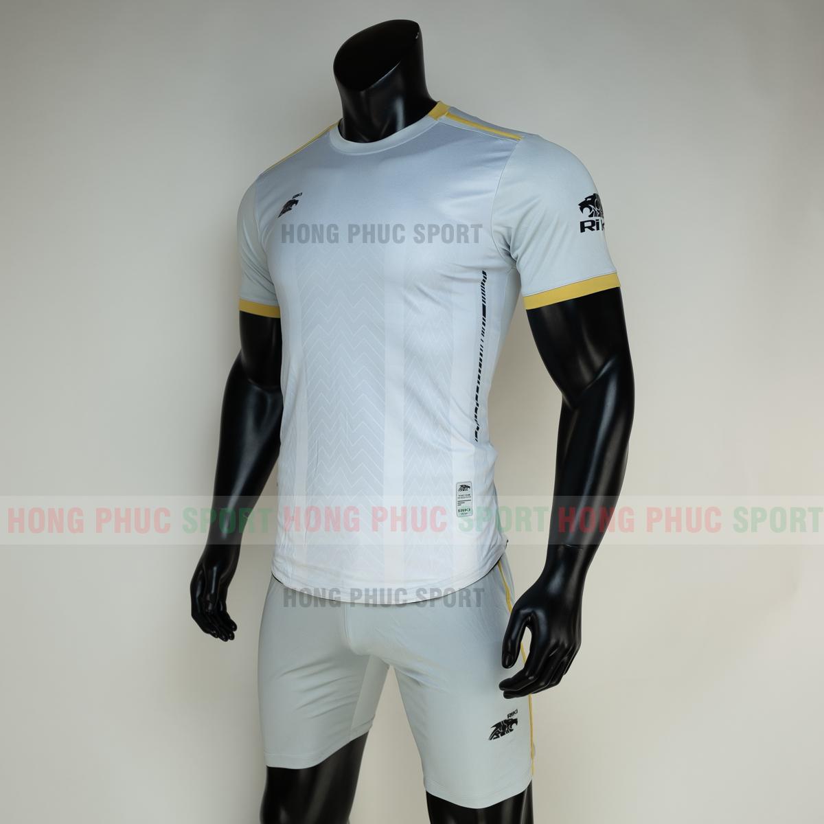 Áo đá banh không logo RIKI FURIOR 2021 màu trắng (trái)