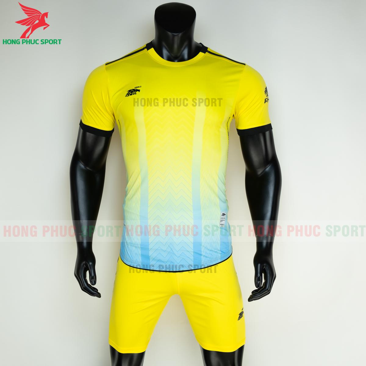 Áo đá banh không logo RIKI FURIOR 2021 màu Vàng (trước)