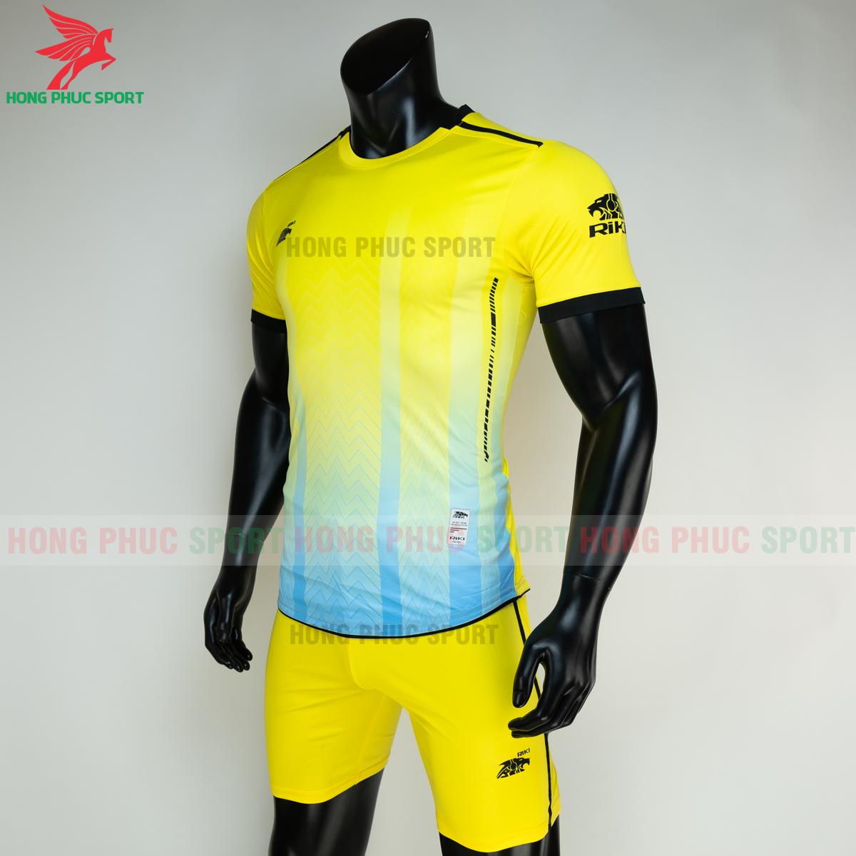 Áo đá banh không logo RIKI FURIOR 2021 màu Vàng (trái)