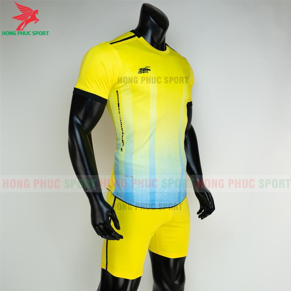 Áo đá banh không logo RIKI FURIOR 2021 màu Vàng (phải)