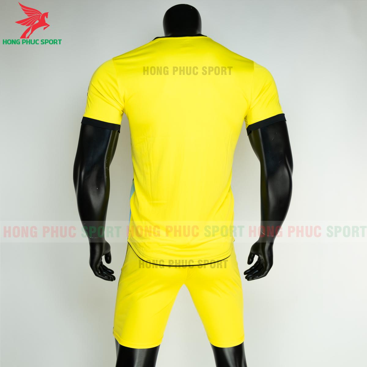 Áo đá banh không logo RIKI FURIOR 2021 màu Vàng (sau)