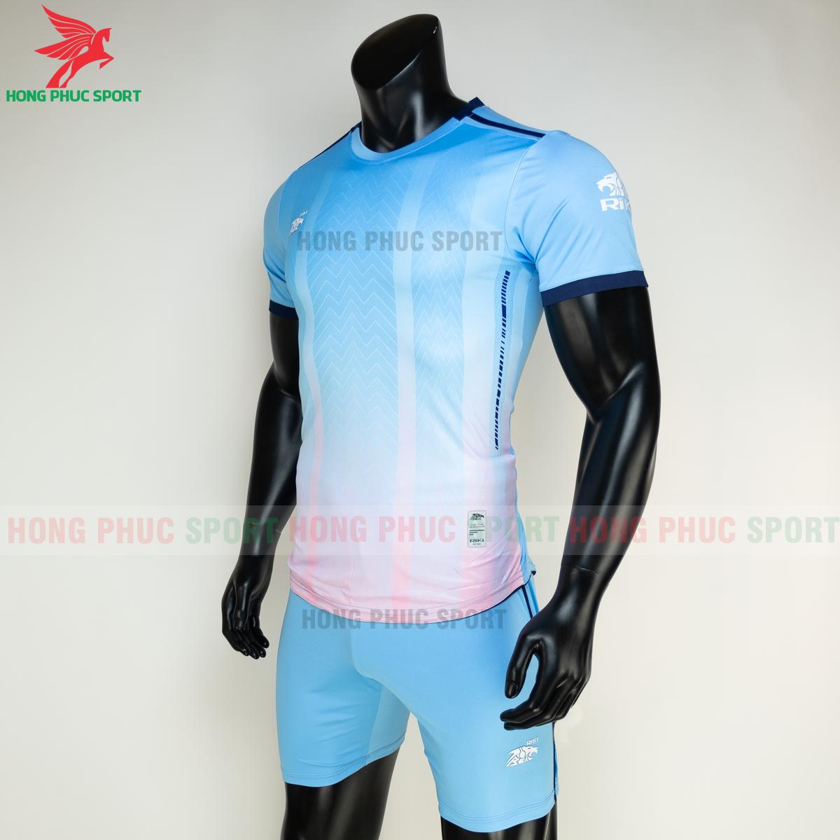 Áo đá banh không logo RIKI FURIOR 2021 màu Xanh da (trái)