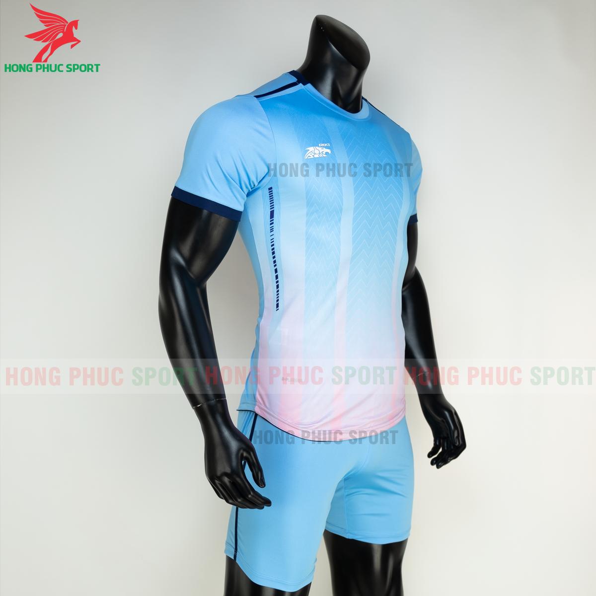 Áo đá banh không logo RIKI FURIOR 2021 màu Xanh da (phải)
