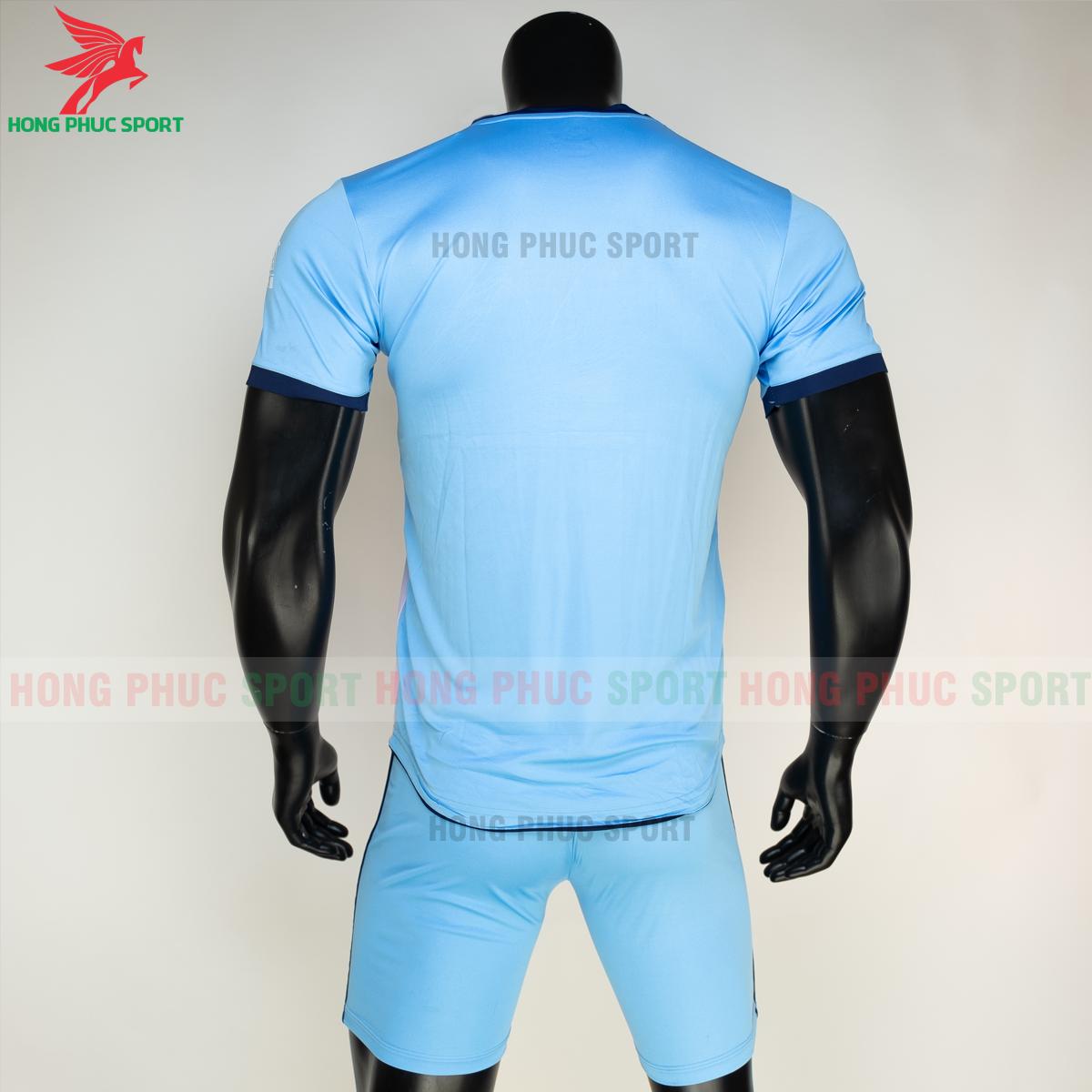 Áo đá banh không logo RIKI FURIOR 2021 màu Xanh da (sau)