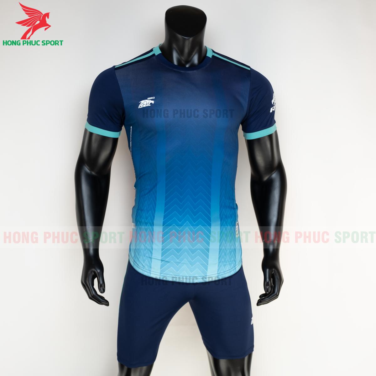 Áo đá banh không logo RIKI FURIOR 2021 màu Xanh dương(trước)