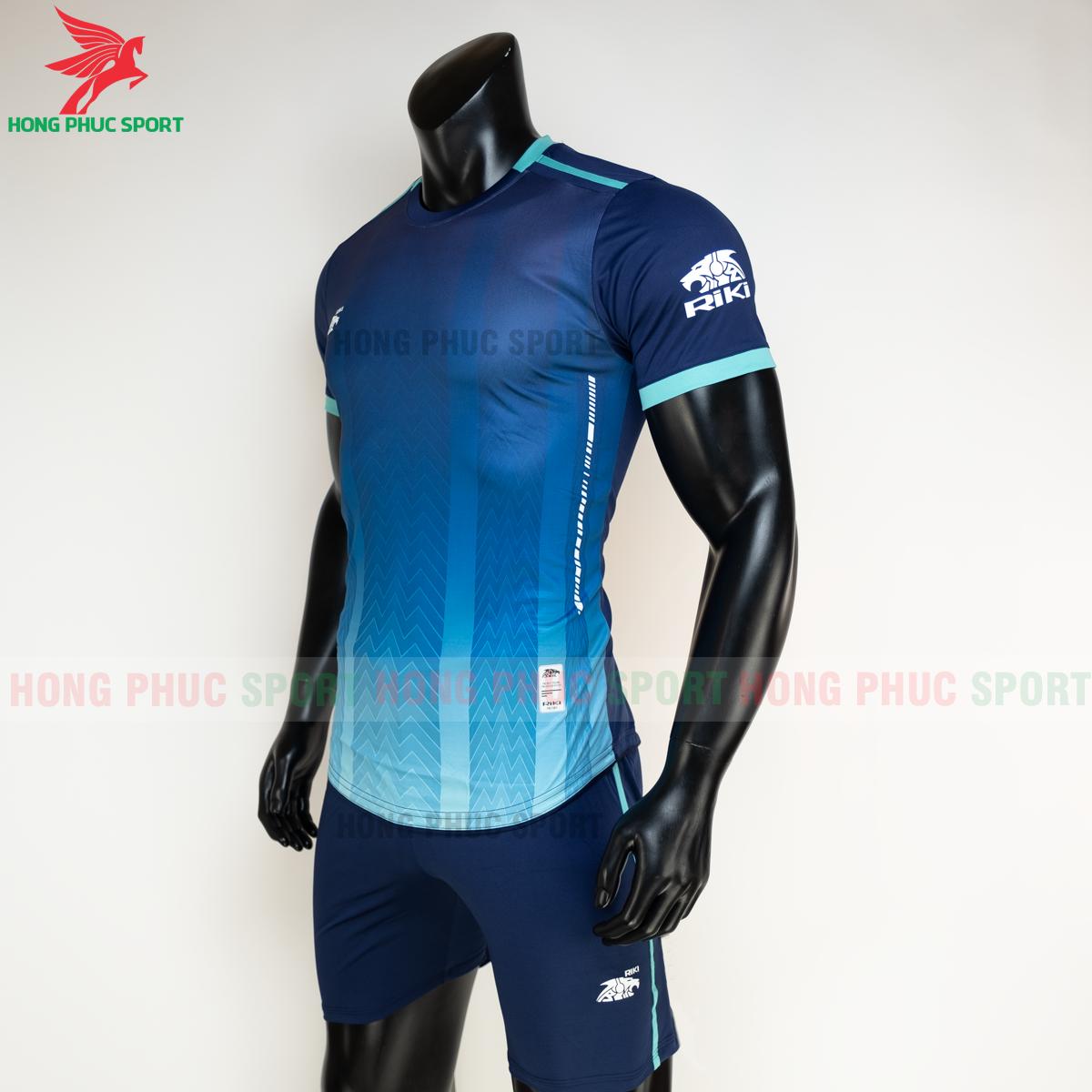 Áo đá banh không logo RIKI FURIOR 2021 màu Xanh dương(trái)
