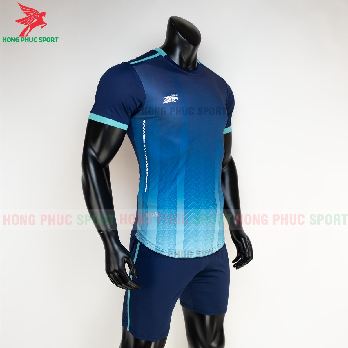 Áo đá banh không logo RIKI FURIOR 2021 màu Xanh dương(phải)