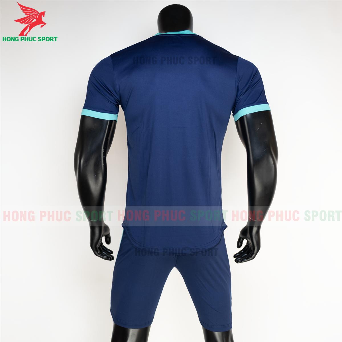 Áo đá banh không logo RIKI FURIOR 2021 màu Xanh dương(sau)