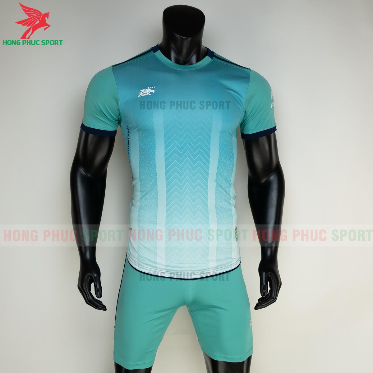 Áo đá banh không logo RIKI FURIOR 2021 màu Xanh ngọc (trước)