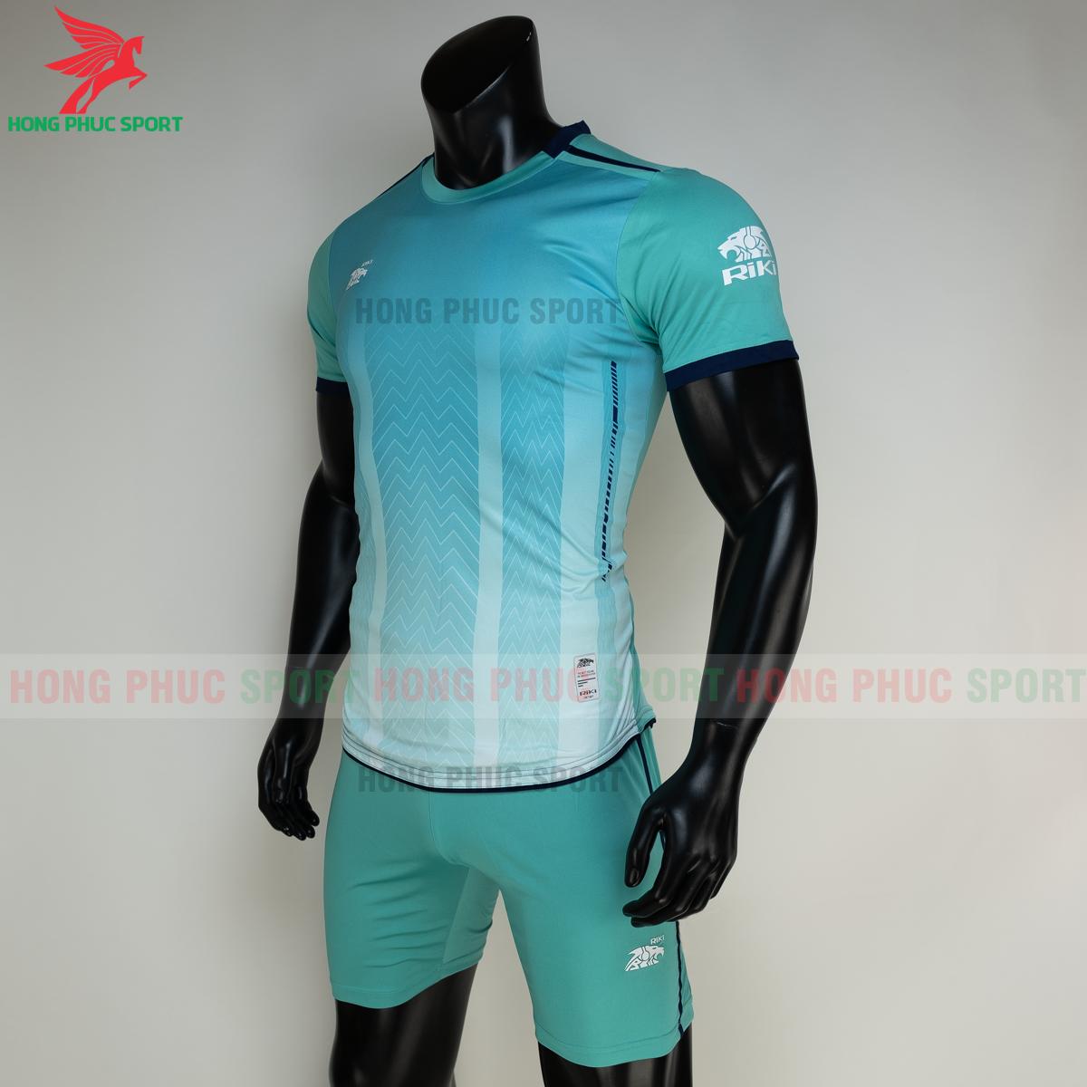 Áo đá banh không logo RIKI FURIOR 2021 màu Xanh ngọc (trái)