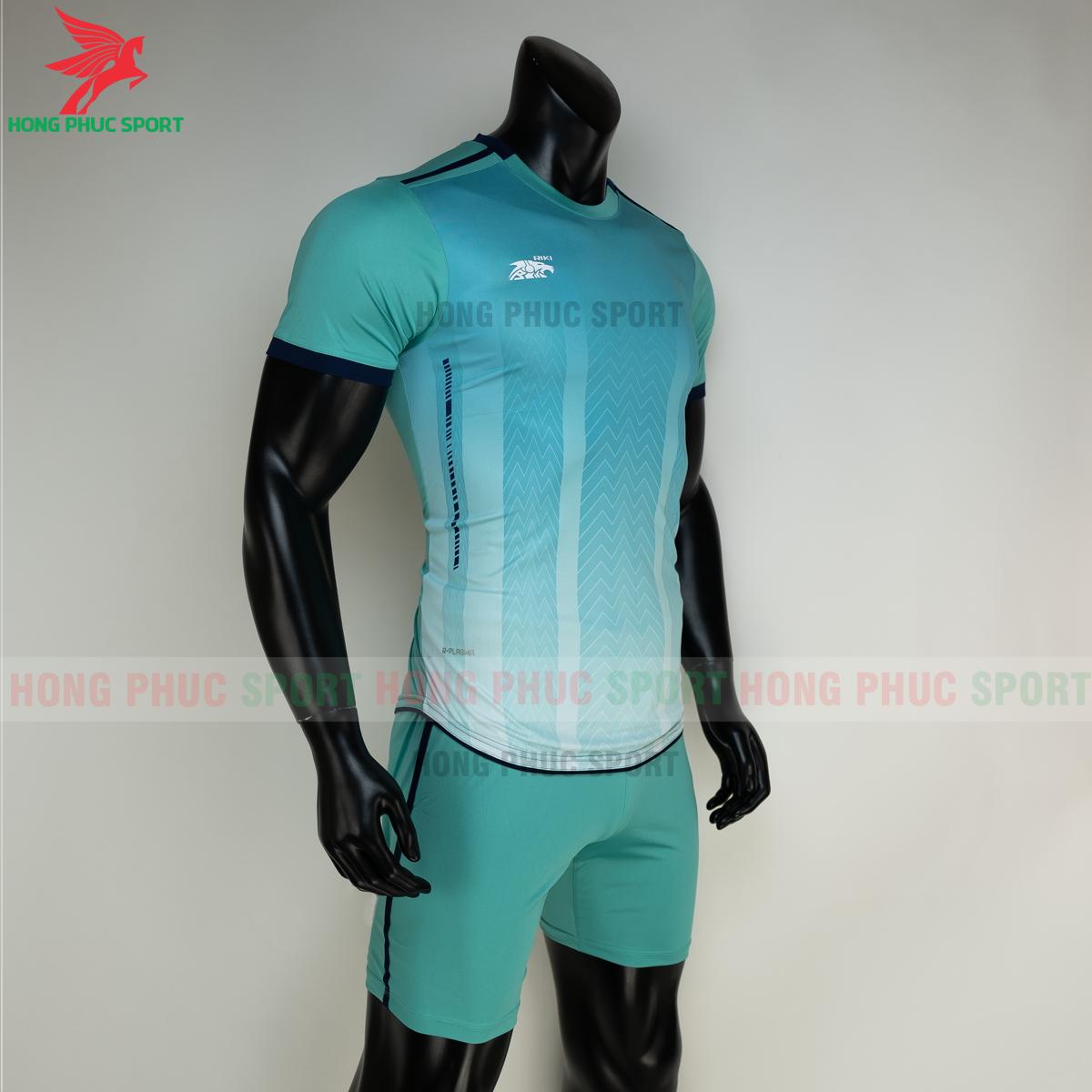 Áo đá banh không logo RIKI FURIOR 2021 màu Xanh ngọc (phải)