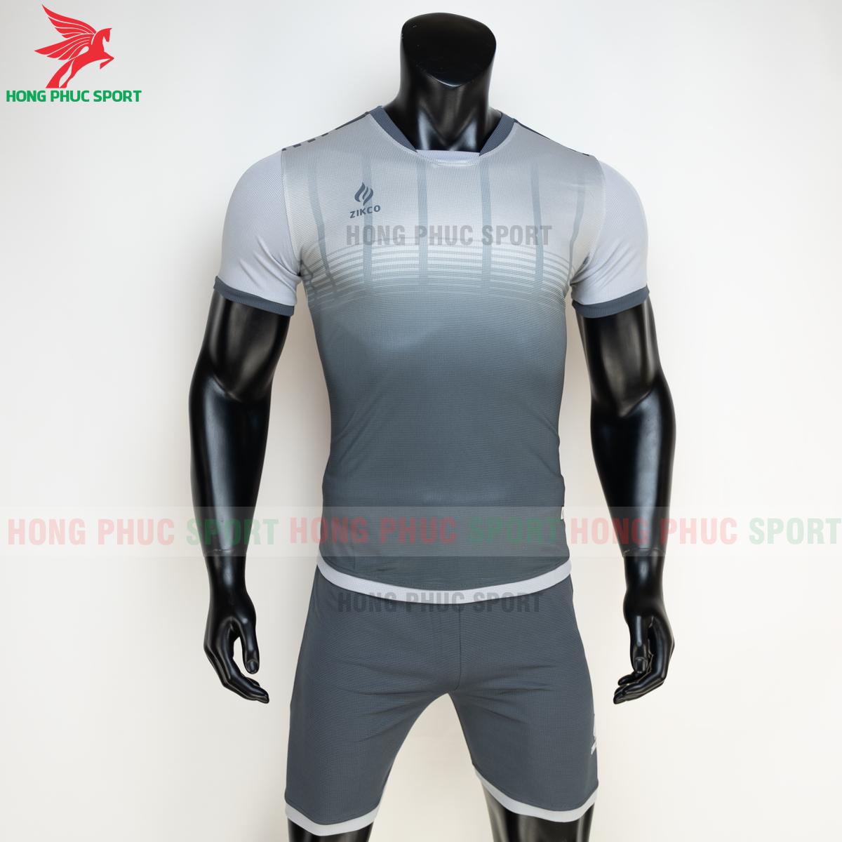 Áo đá banh không logo ZIKCO Z01 2021 màu đen (trước)