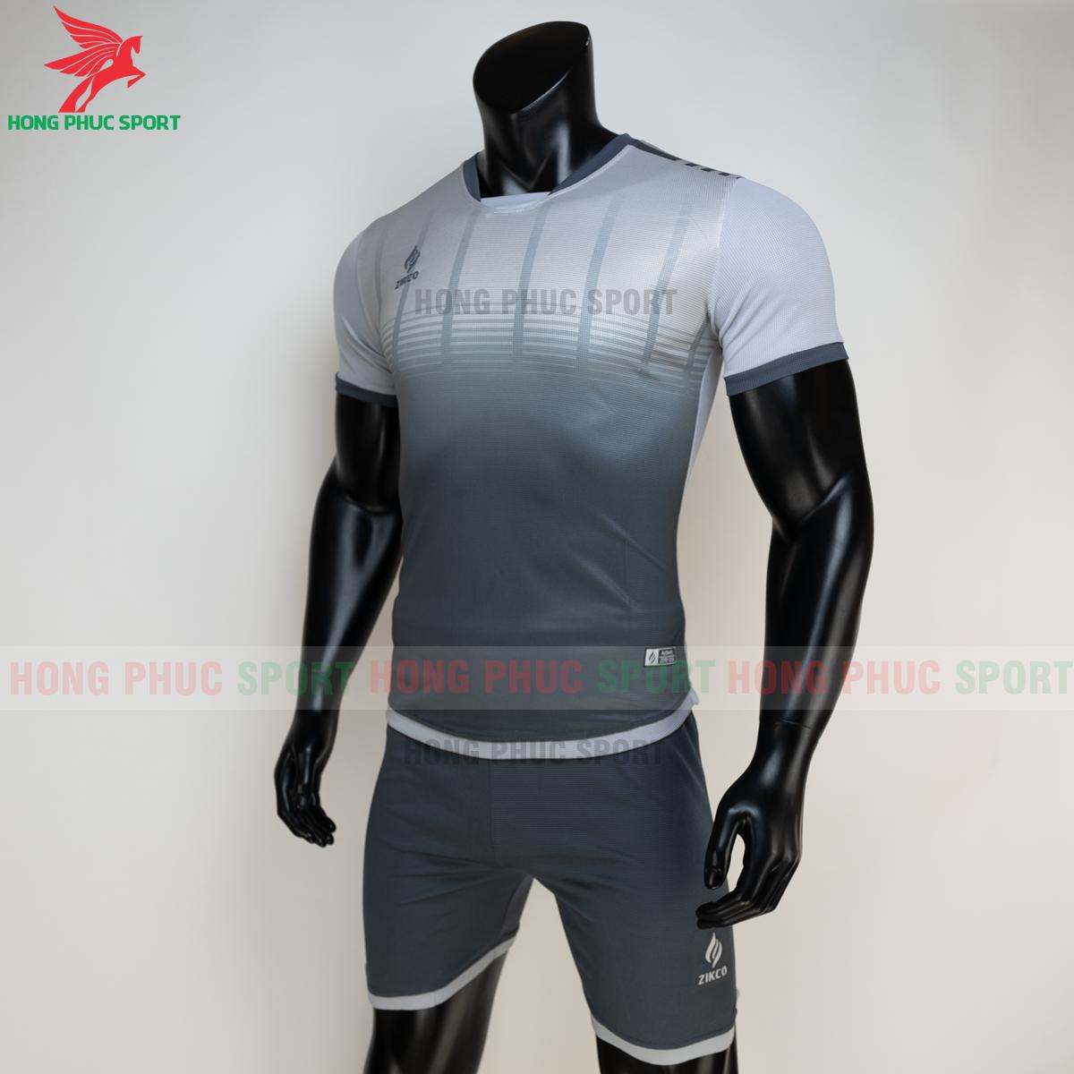 Áo đá banh không logo ZIKCO Z01 2021 màu đen (trái)