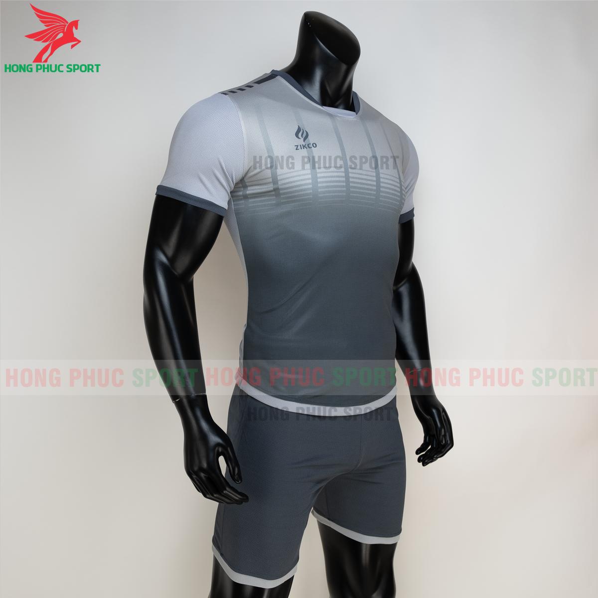 Áo đá banh không logo ZIKCO Z01 2021 màu đen (phải)