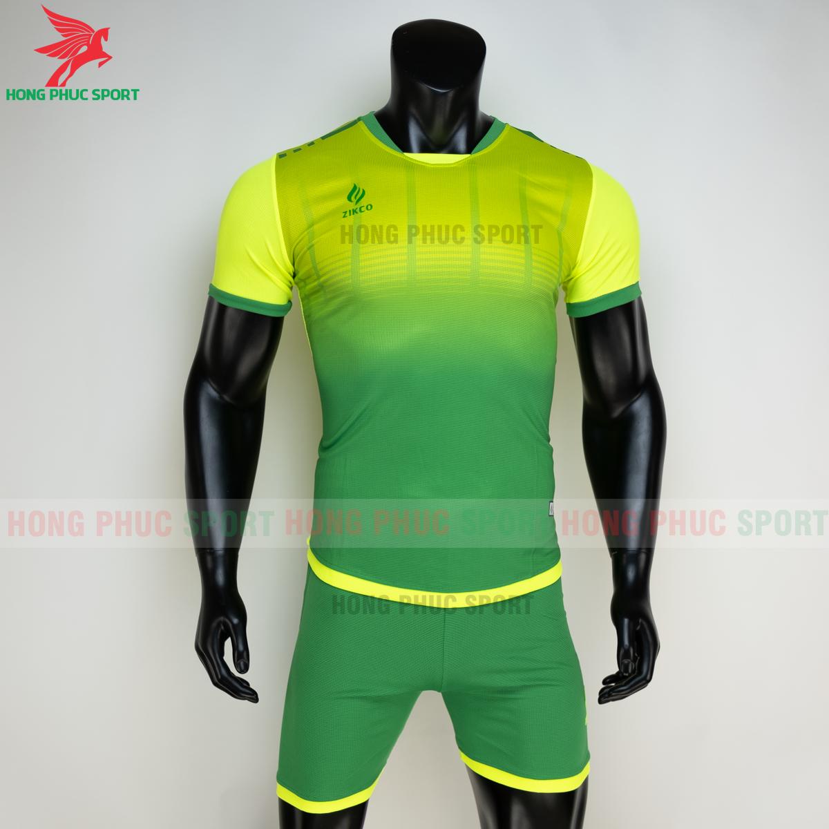Áo đá banh không logo ZIKCO Z01 2021 màu Xanh chuối(trước)
