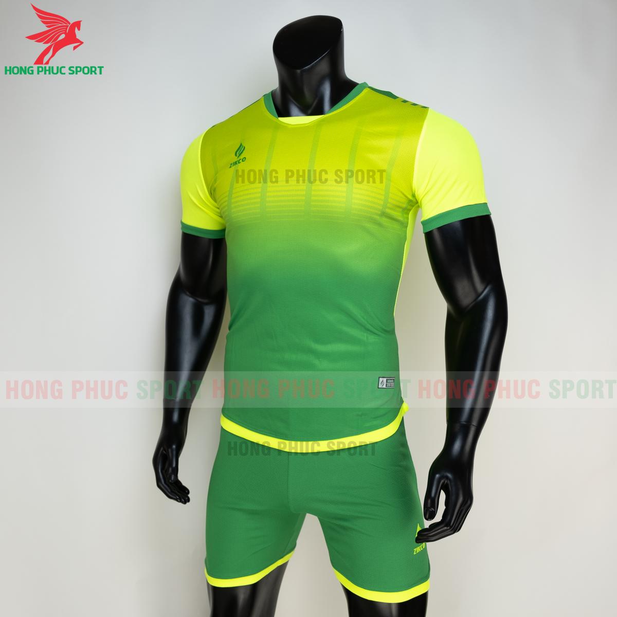 Áo đá banh không logo ZIKCO Z01 2021 màu Xanh chuối (trái)