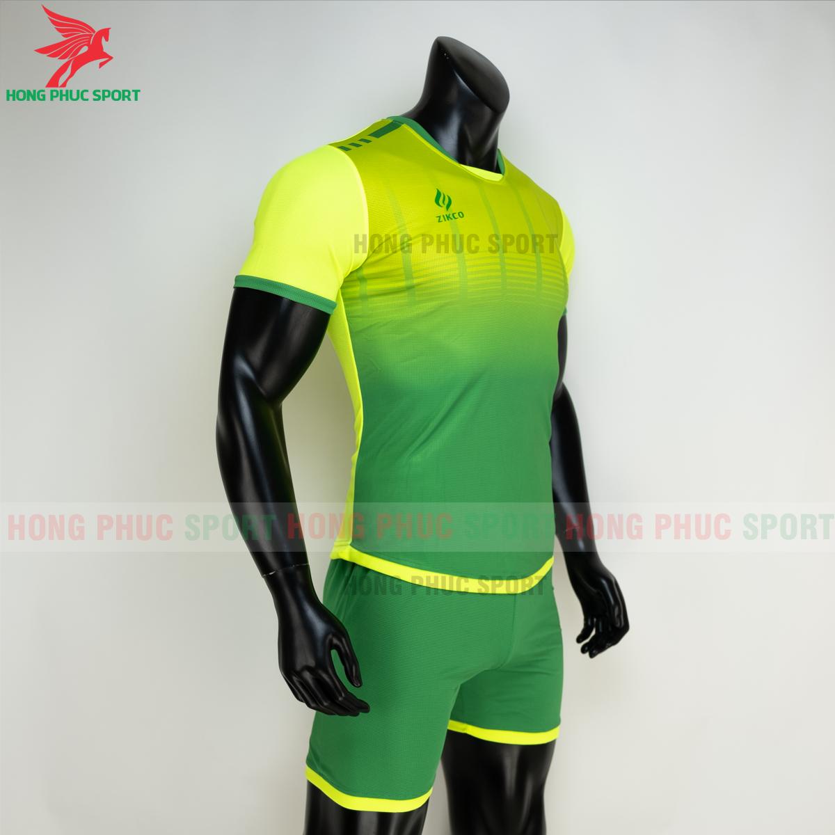 Áo đá banh không logo ZIKCO Z01 2021 màu Xanh chuối(phải)