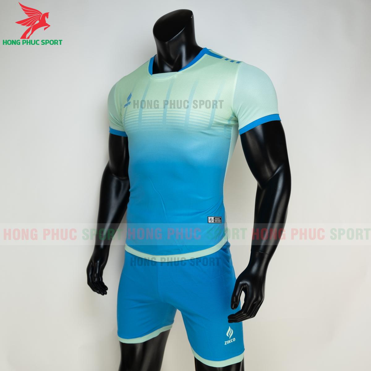 Áo đá banh không logo ZIKCO Z01 2021 màu Xanh ngọc (trái)