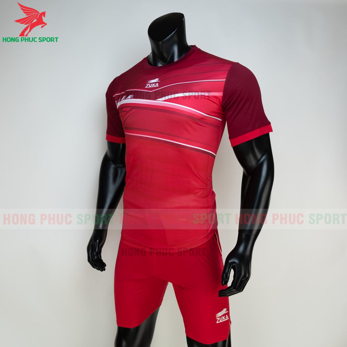 Áo đá banh không logo ZUKA 01 2021 màu Đỏ (trái)