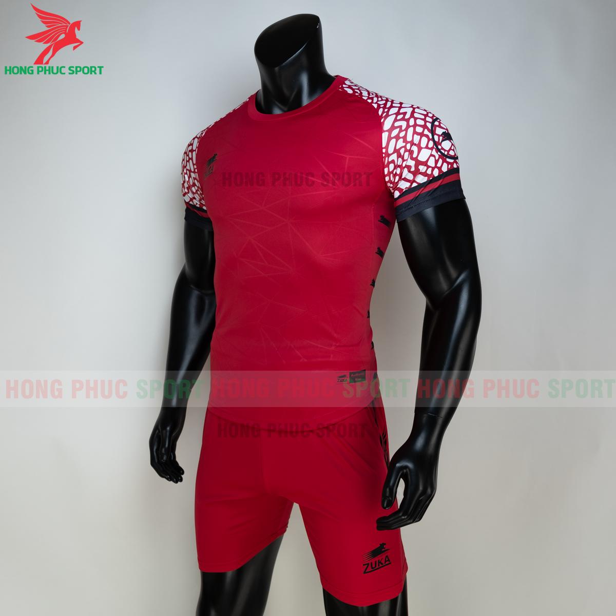 Áo đá banh không logo ZUKA 02 2021 màu Đỏ (trái)