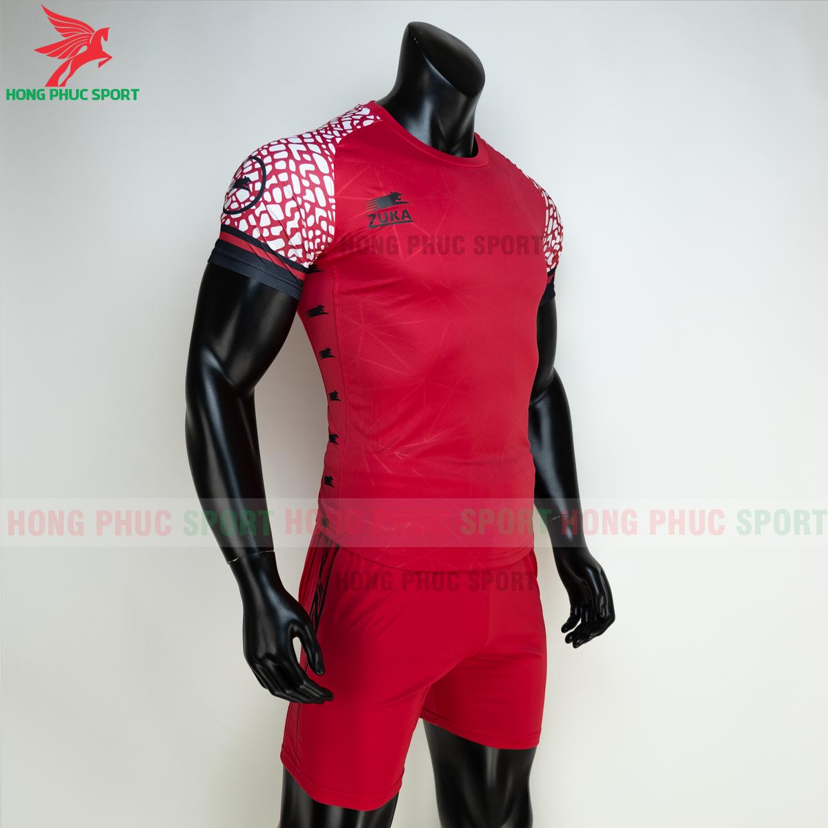 Áo đá banh không logo ZUKA 02 2021 màu Đỏ (phải)