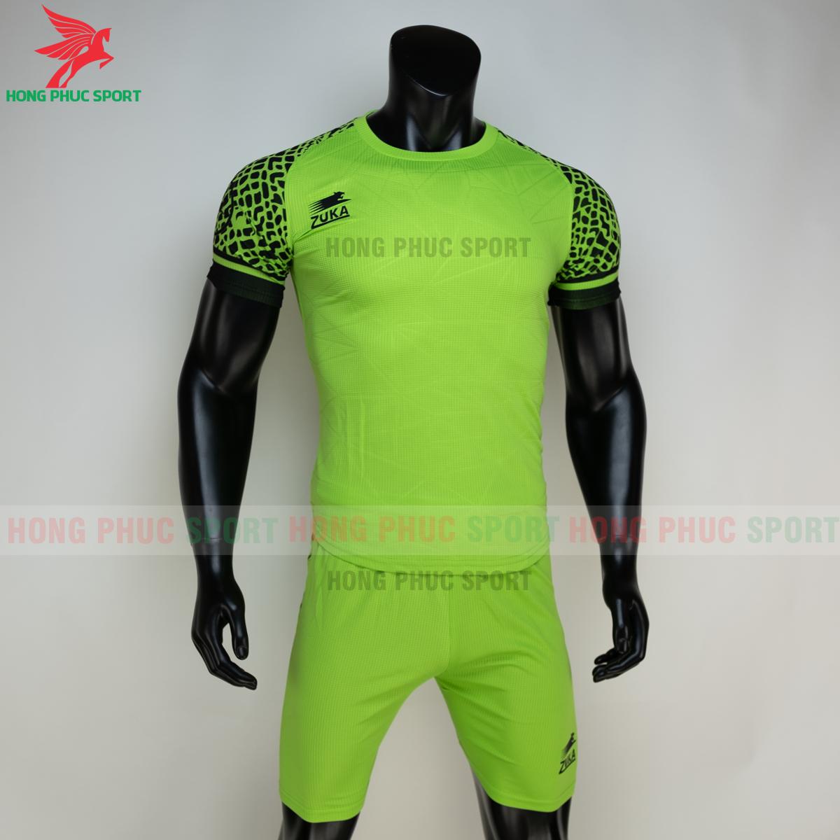 Áo đá banh không logo ZUKA 022021 màu Xanh chuối