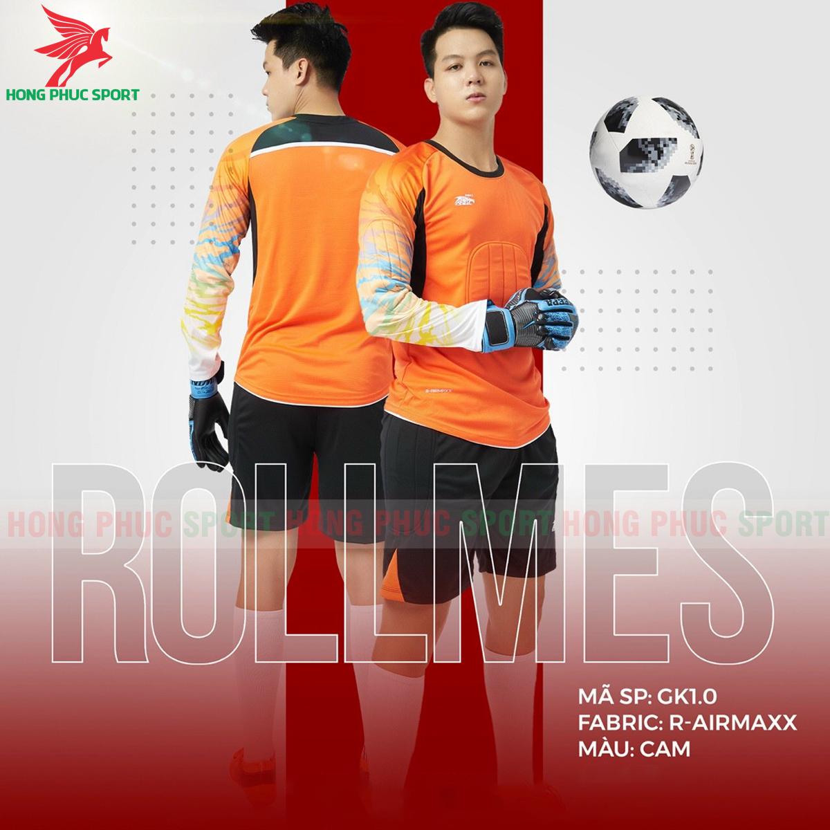 Áo bóng đá thủ môn Riki Rollmes 2021màu Cam