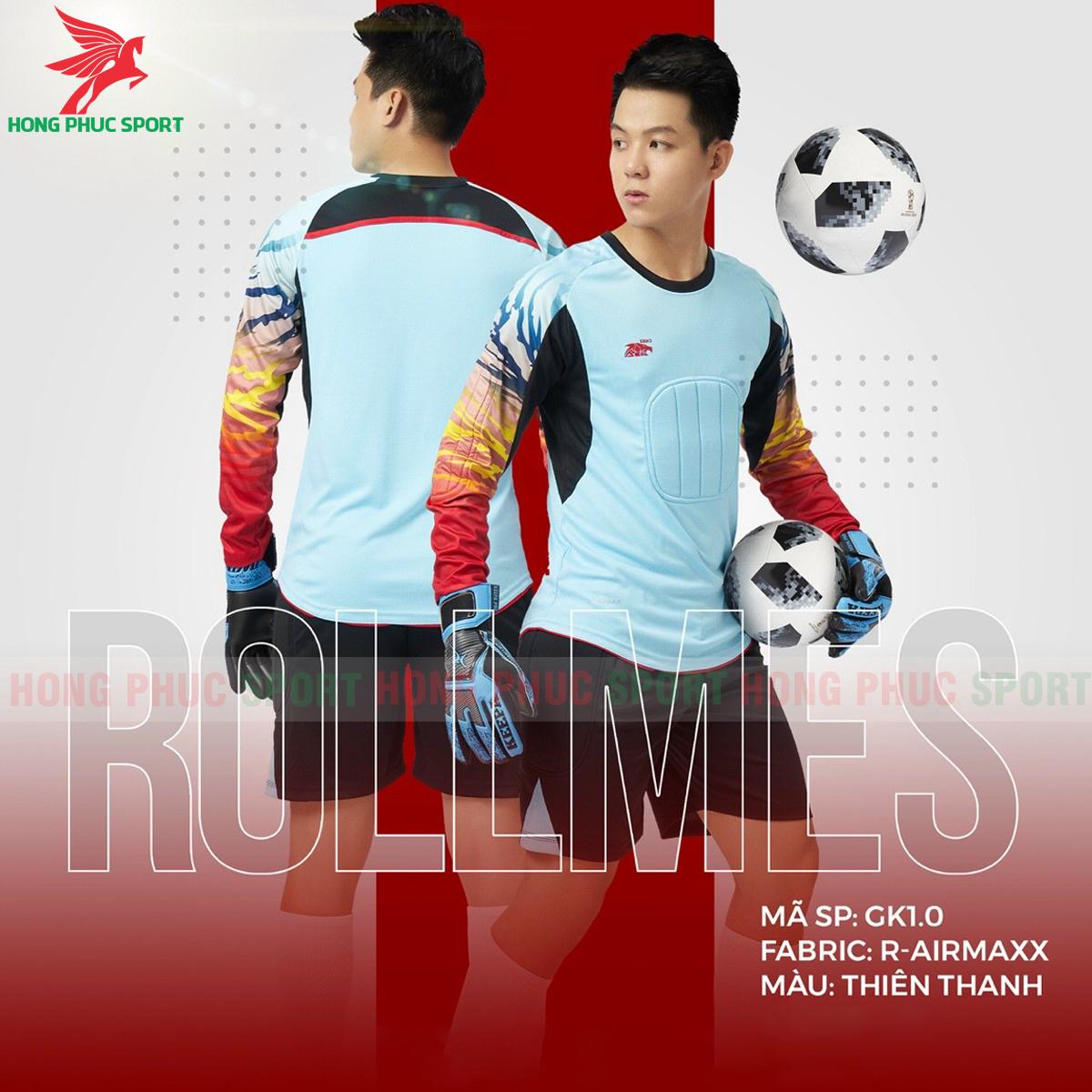 Áo bóng đá thủ môn Riki Rollmes 2021màu Xanh ngọc