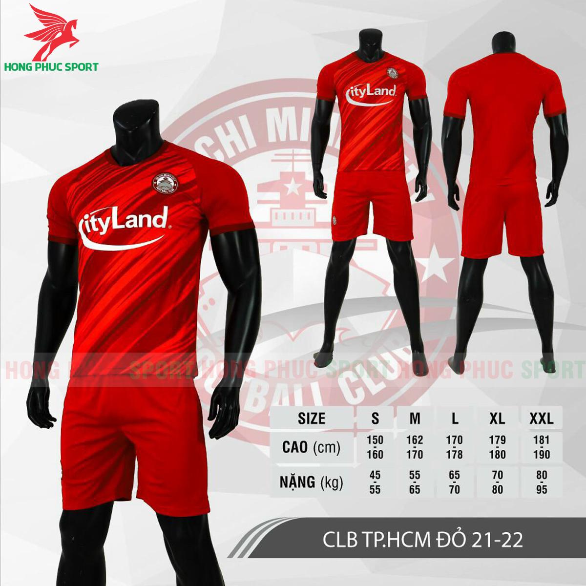 Áo đấu CLB Hồ Chí Minh2021 màu đỏ