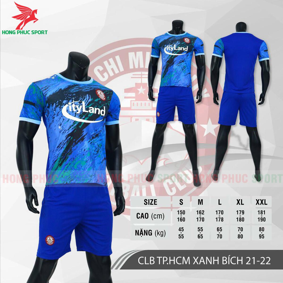 Áo đấu CLB Hồ Chí Minh2021 màu xanh bích