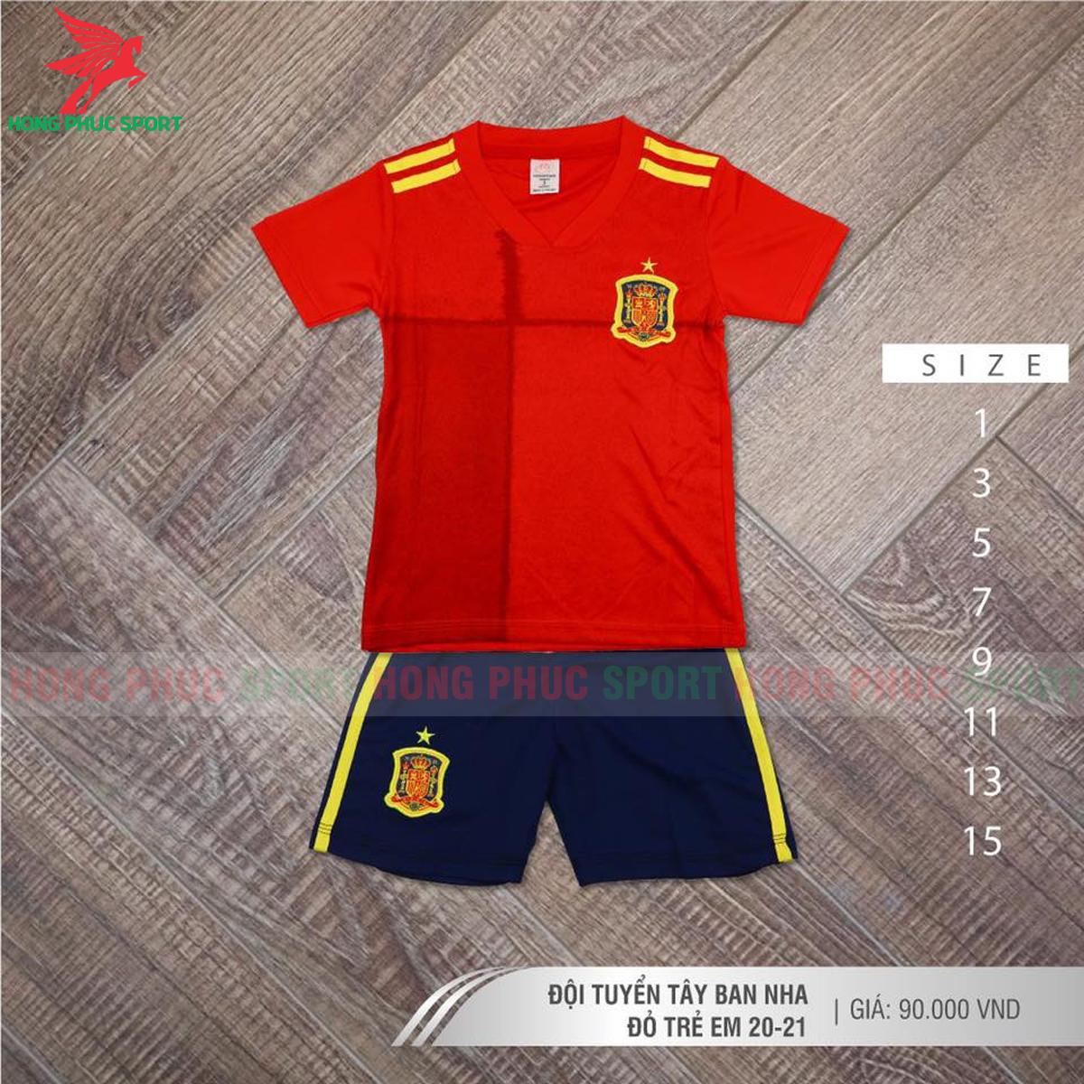 Áo đấu trẻ em tuyển Tây Ban Nha 2021 2022 sân nhà