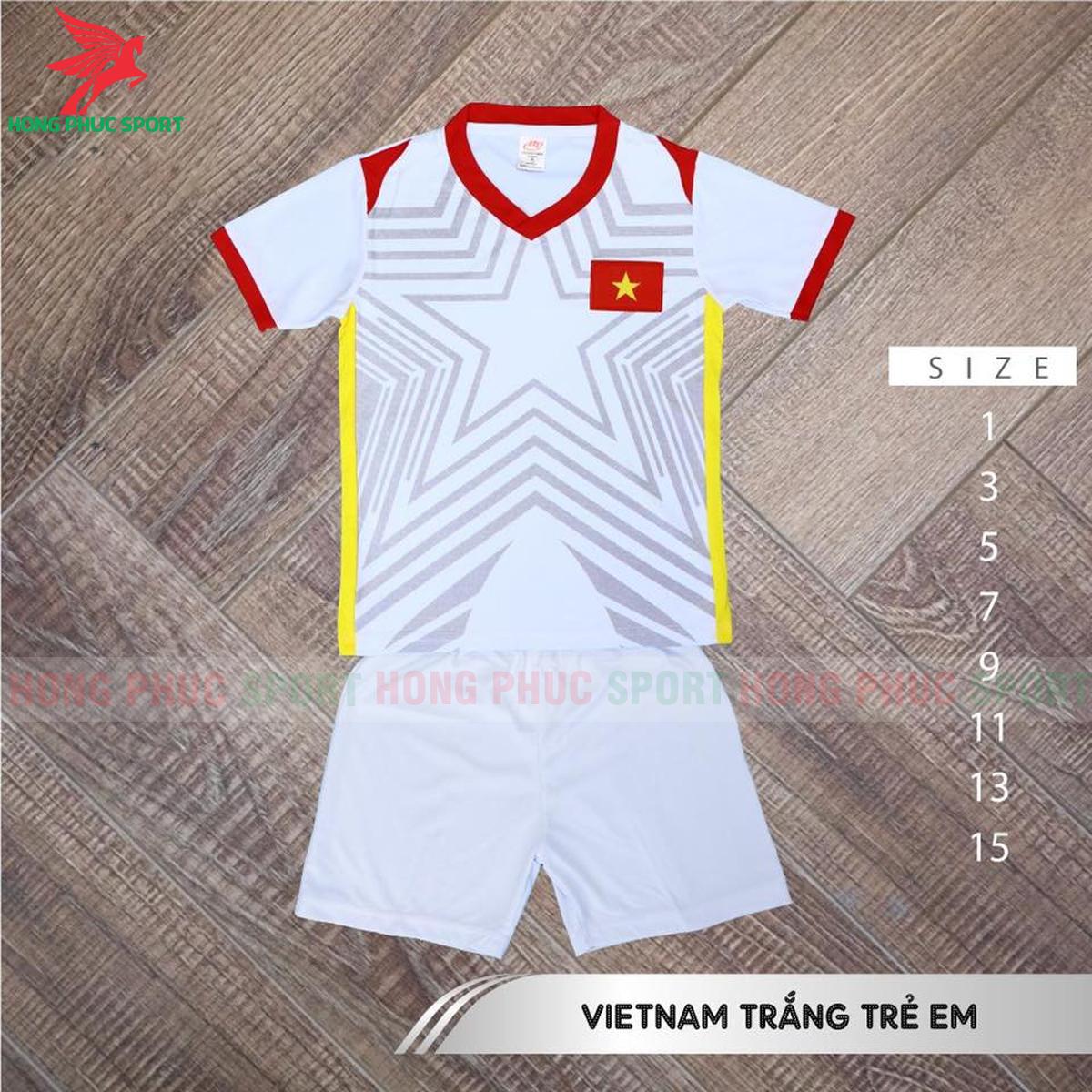 Áo đấu trẻ em tuyển Việt Nam 2021 2022 sân khách