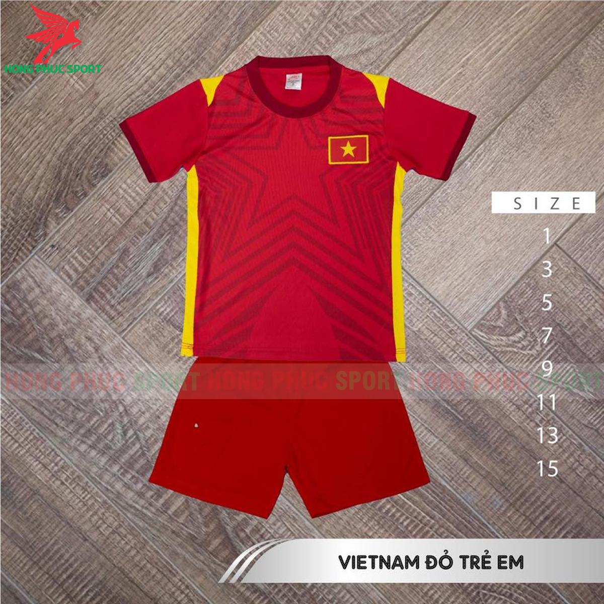 Áo đấu trẻ em tuyển Việt Nam 2021 2022 sân nhà