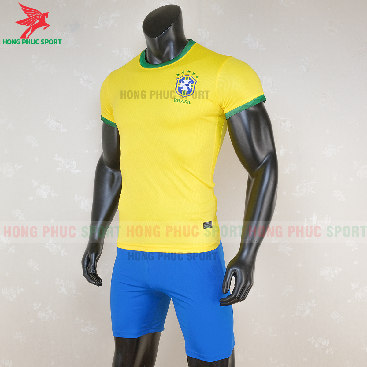 Áo bóng đá tuyển Brazil 2020 2021 sân nhà (trái)