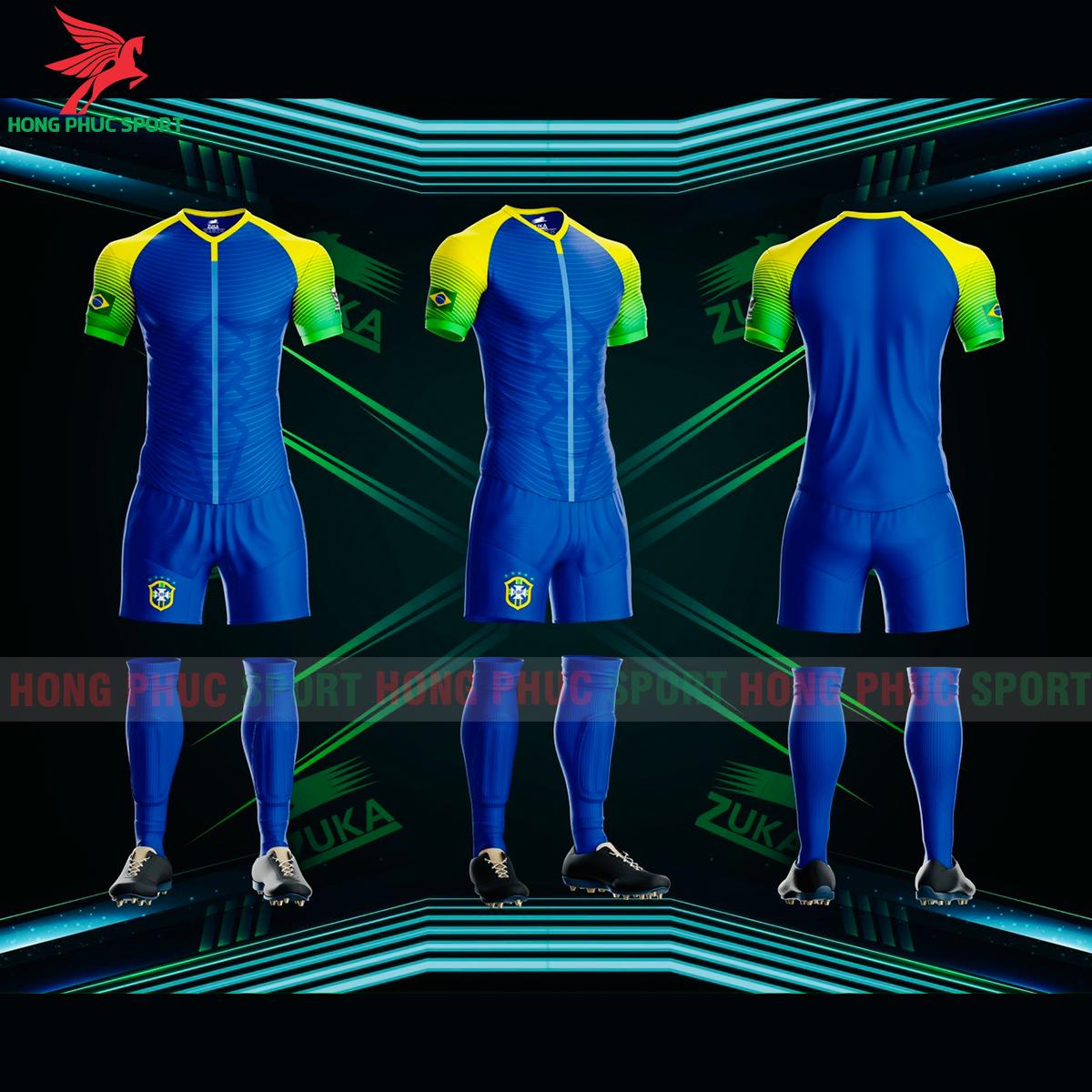 Áo đá banh Zuka tuyển BRAZIL phiên bản fan 3