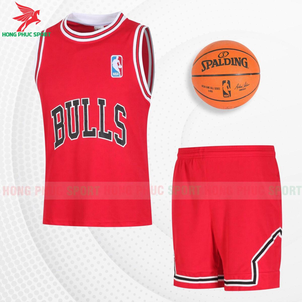 Quần áo bóng rổBulls 2021màu đỏ