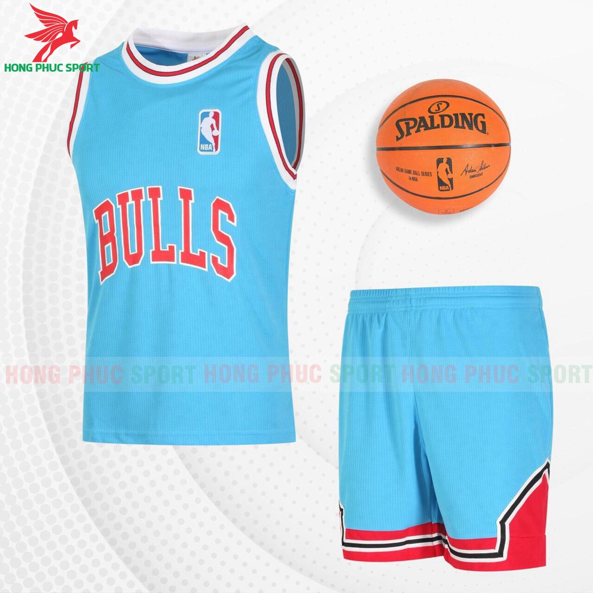 Quần áo bóng rổBulls 2021màu xanh ngọc