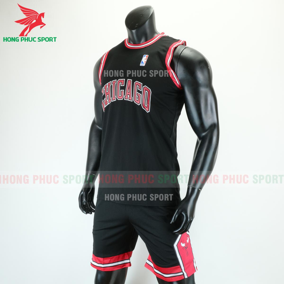 Áo bóng rổ Bulls 2020 màu đen (trái)