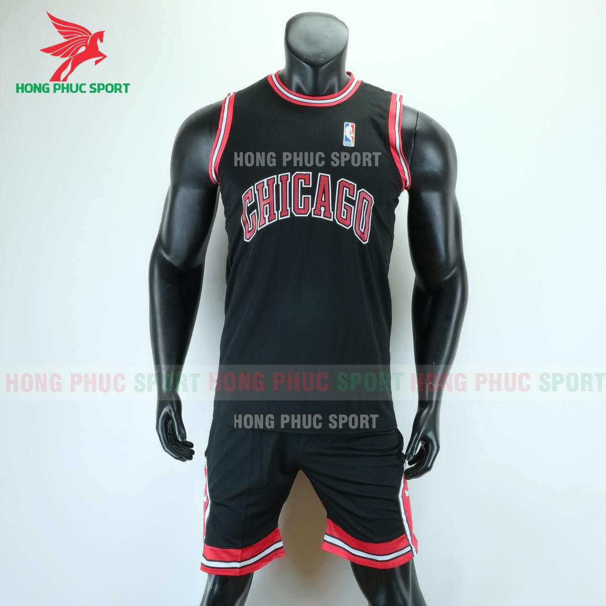 Áo bóng rổ Bulls 2020 màu đen (trước)
