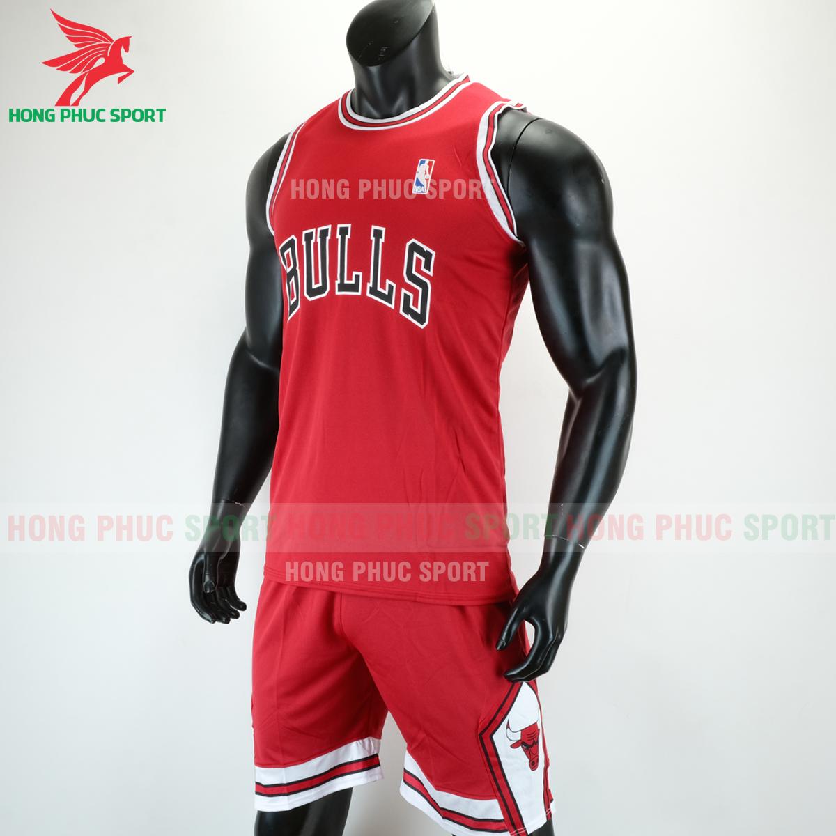 Áo bóng rổ Bulls 2020 màu đỏ (trái)