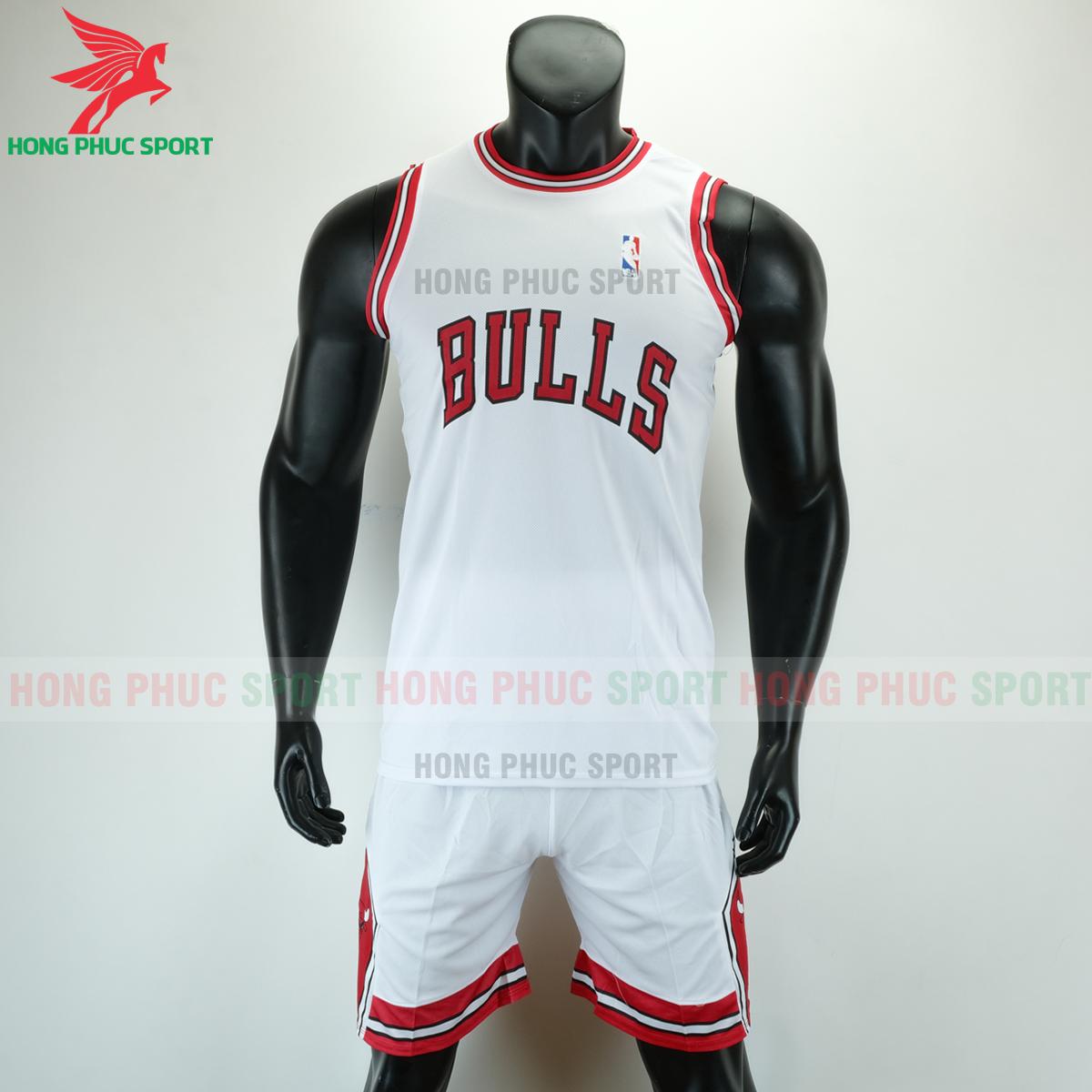Áo bóng rổ Bulls 2020 màu trắng (trước)