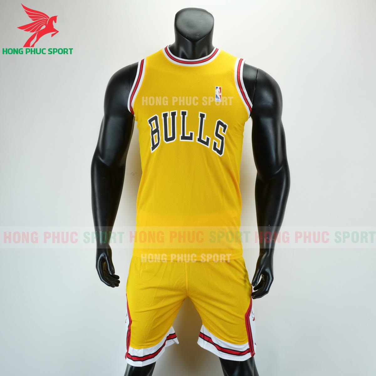 Áo bóng rổ Bulls 2020 màu vàng (trước)