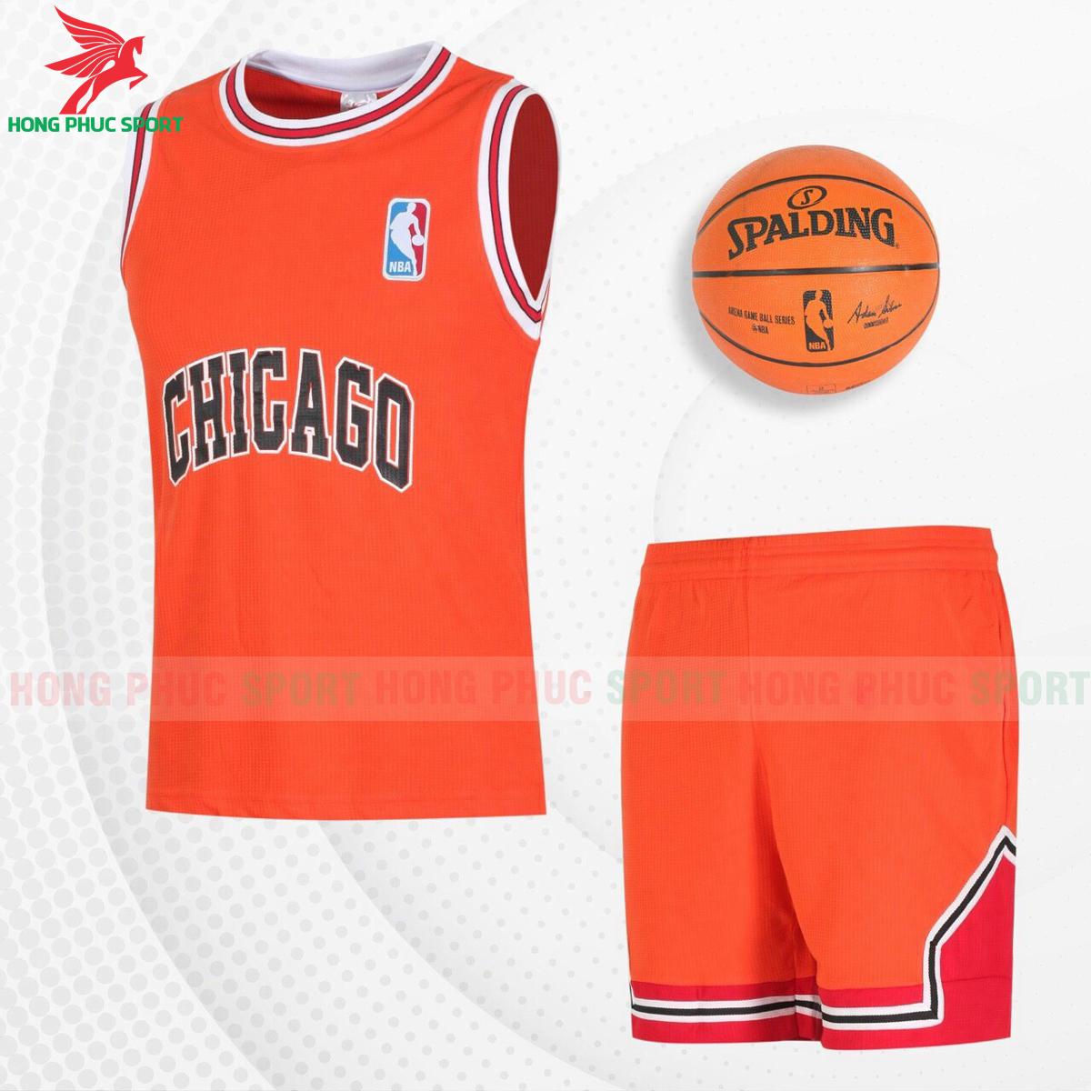 Quần áo bóng rổChicago 2021màu cam