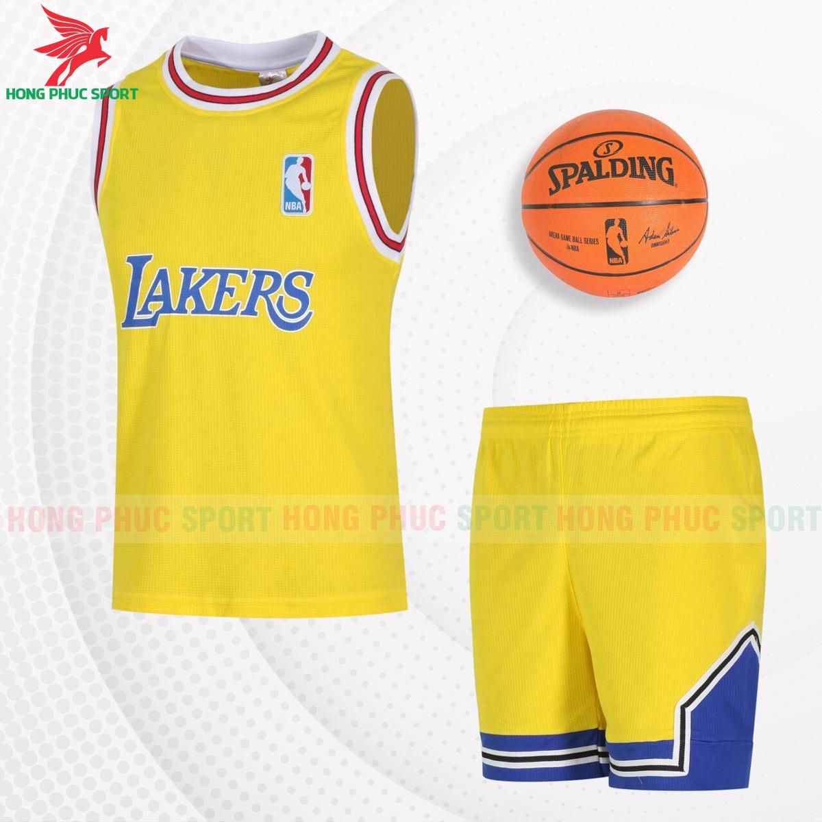 Quần áo bóng rổLakers2021màu vàng