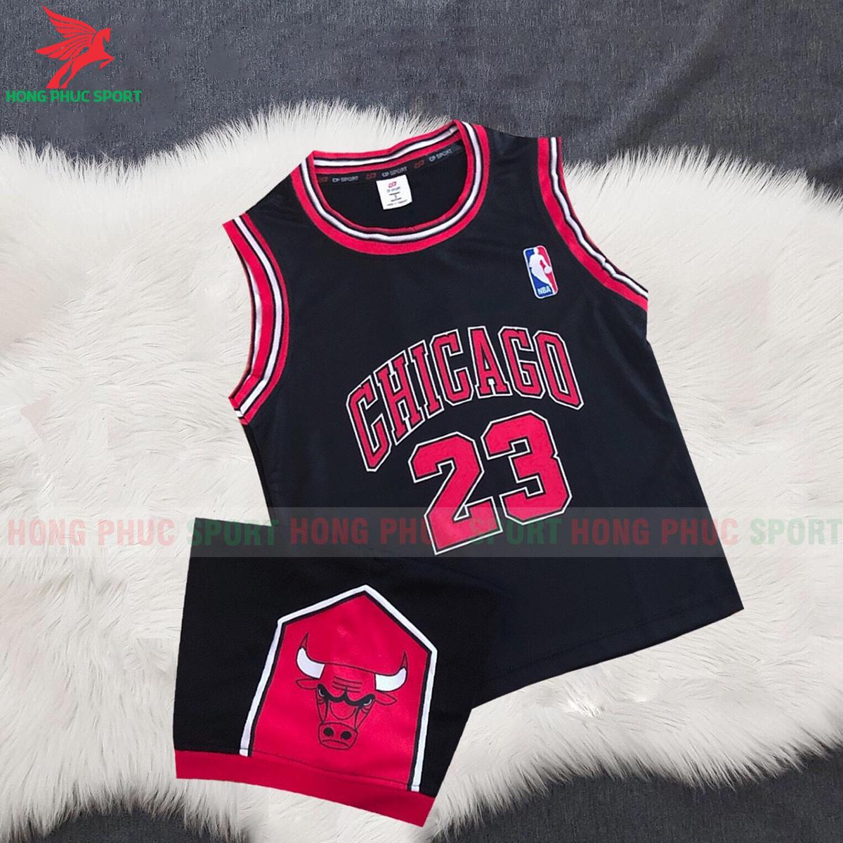 Áo bóng rổ trẻ em Bulls 2020 màu đen