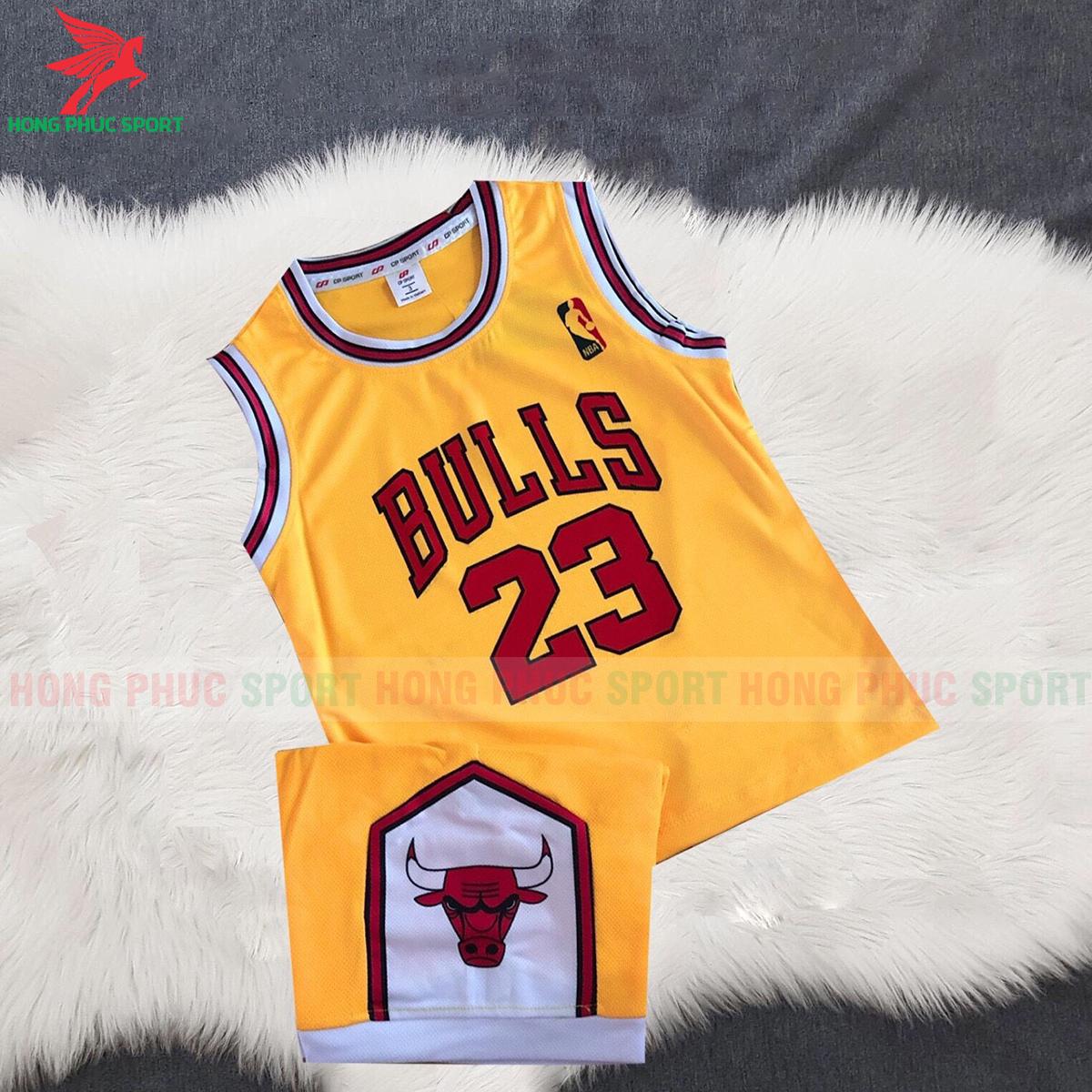 Áo bóng rổ trẻ em Bulls 2020 màu vàng