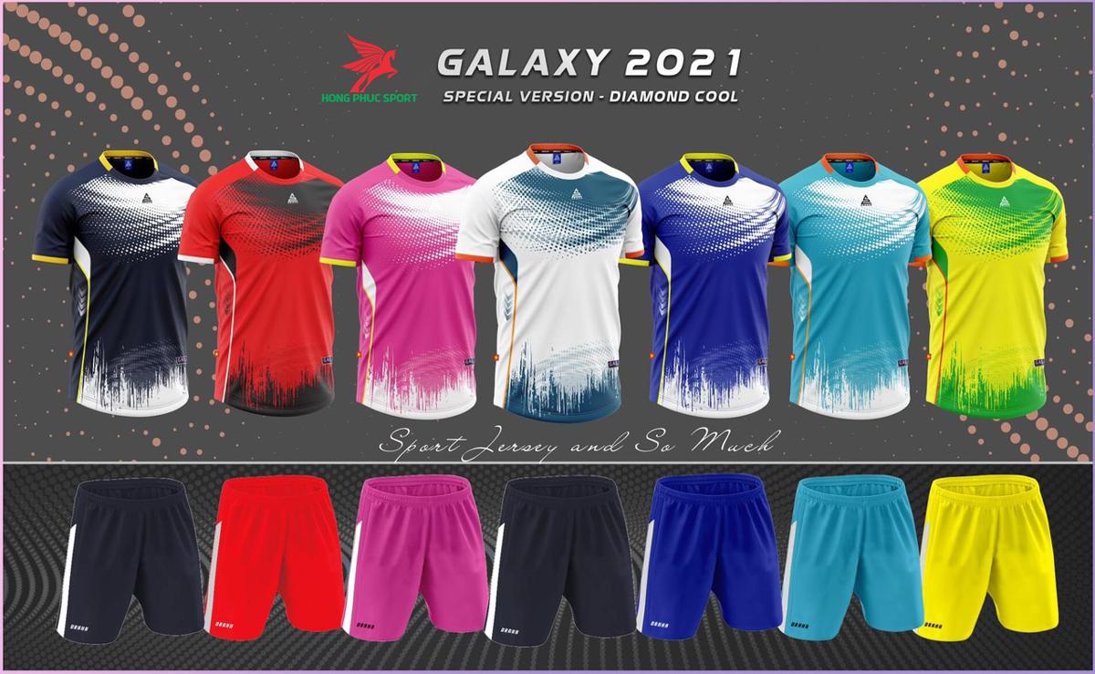 Áo đá banh không logo Draha Galaxy 2021